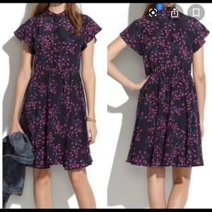 Madewell silk dress in Night Orchid